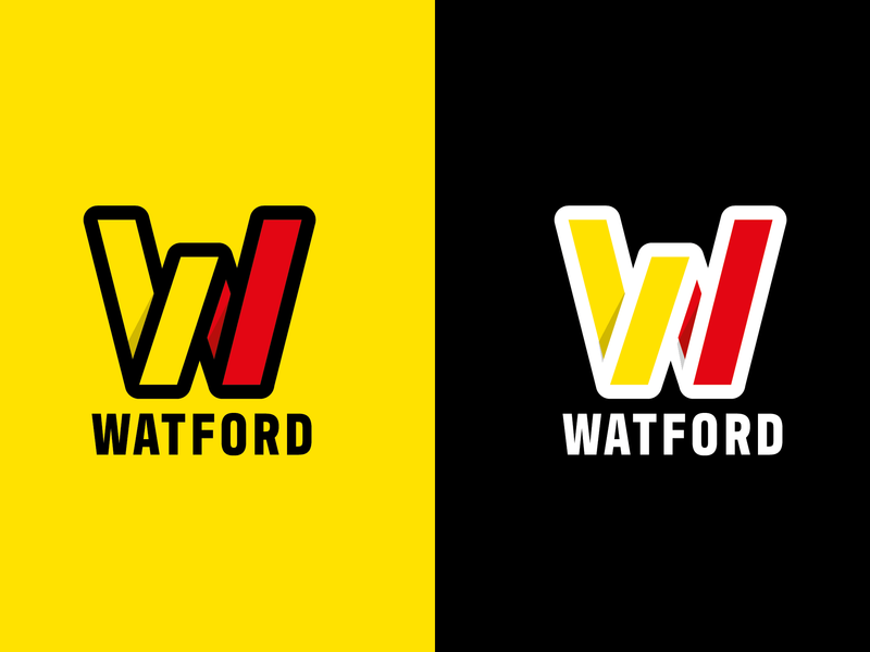 Watford FC Logo design illustration typography premier league soccer crest branding football club watford