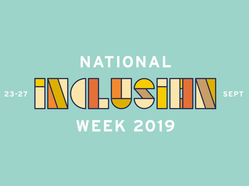 National Inclusion Week illustration typedesign typography diversity inclusion type design type
