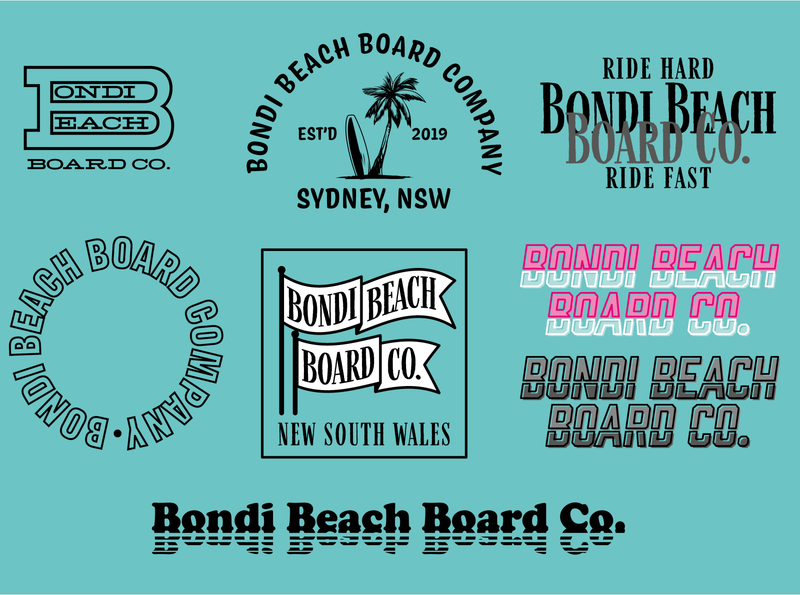 Bondi Beach Board Co. v2 design apparel design typography design type lockups lockup logo logo design apparel logo apparel
