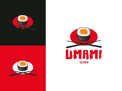 Umami Sushi Logotipo vector design branding design branding logo graphic design
