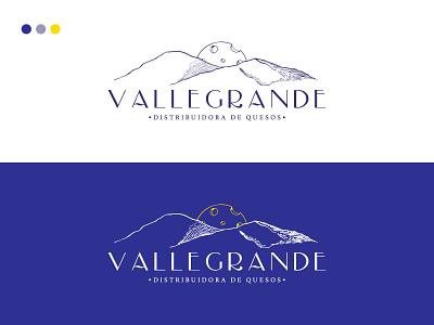 Logotipo VALLEGRANDE Distribuidora de Quesos illustration vector logo branding design branding graphic design