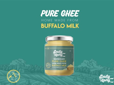 PURE GHEE OF COW AND BUFFALO LABEL AND PACKAGING DESIGN fiverr brand identity typography vector creative design amazon packaging design amazon label design amazon packaging amazon box packaging box logo illustration packaging design packaging label design label branding graphic design