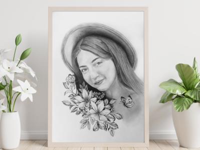 Portrait creative fineart drawingart design graphicart portrait draw