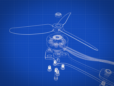 Drone 3d modeling secret propeller illustration blueprint c4d maya 3d art 3d drone