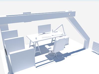 Office WIP maya 3d modeling 3d art 3d