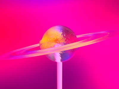 Sweet Planet octane colorful maya photoshop planet abstract c4d 3d art 3d