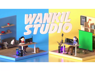Wankil Studio - Twitch Intro streaming twitch octane motion graphics animation motion 3d modeling maya 3d art 3d