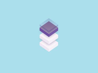 3D isometric cube