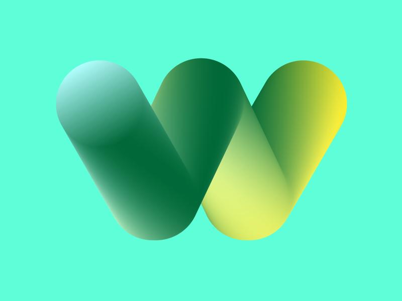w illustration typography