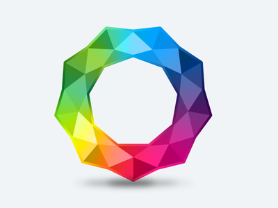 Colorful Sparkling Ring icon vector