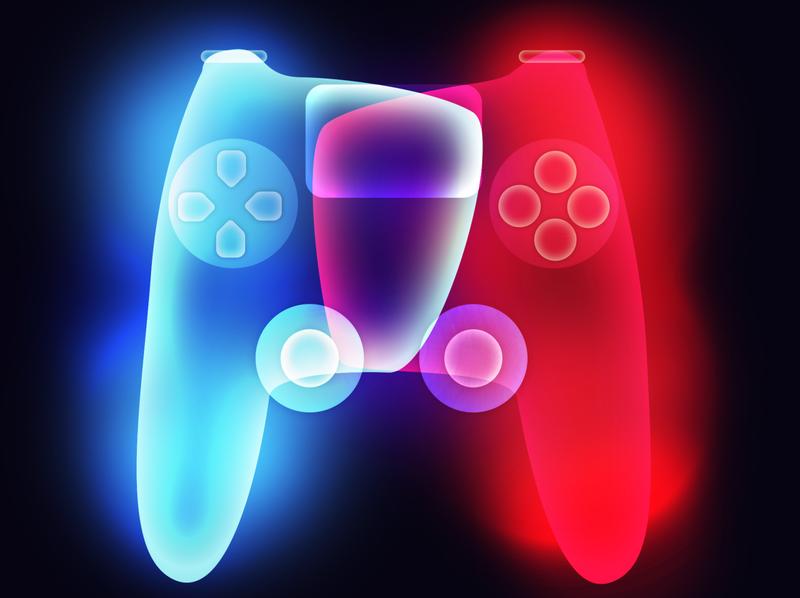 PS4 Controller design photoshop