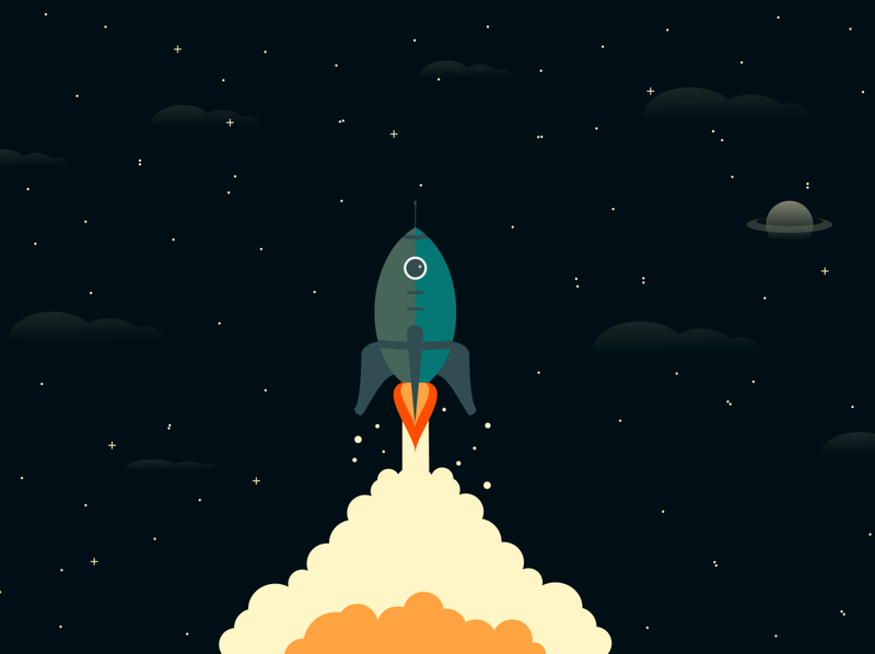 Rocket Ship Outer Space illustration vector