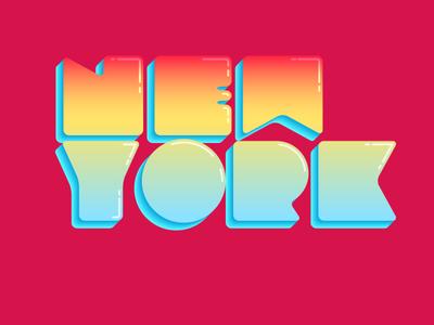 New York type design illustration vector typography