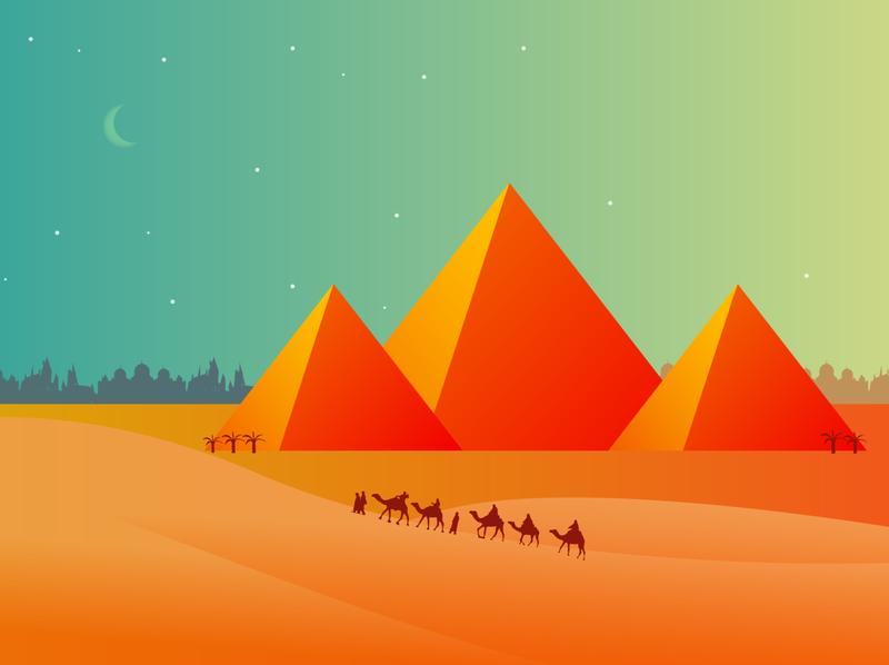Egypt design illustration vector