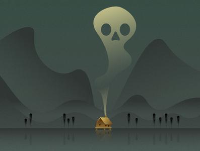 Swamp Cabin design illustration vector