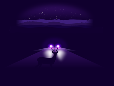 Deer in Headlights design illustration vector