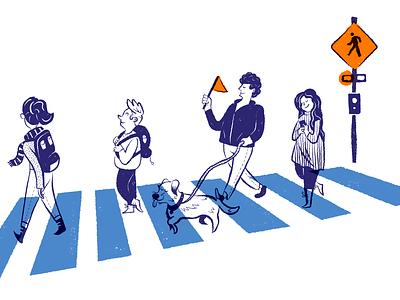 crosswalk safety illustration presentation illustration