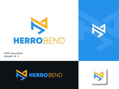 Accounting & Financial h letter logo b letter logo lettermark adobe illustrator logo design modern logo icon graphic design