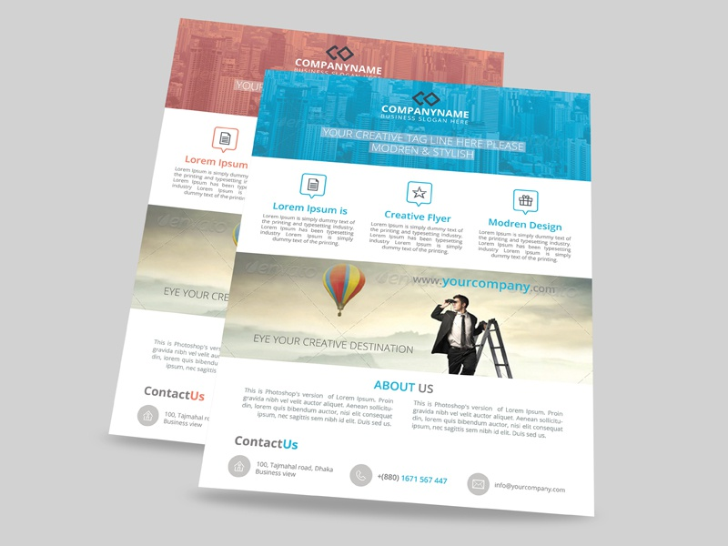 Modern Corporate Flyer Templates By Sabbir Ahmed Dribbble