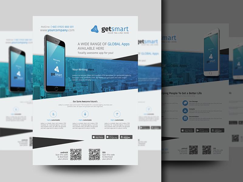mobile app promotional flyer by sabbir ahmed dribbble dribbble