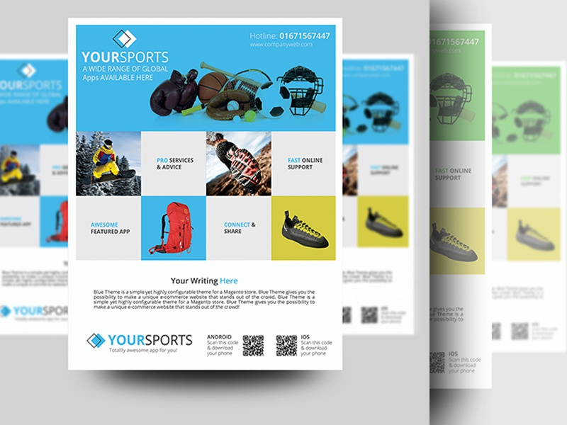 Sports Product Promotion Flyer By Sabbir Ahmed 🎯 - Dribbble