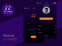iOS Style Musical App Design
