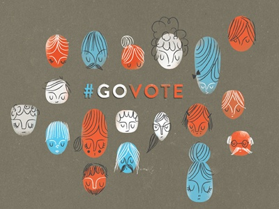 #govote go vote govote illustration design election