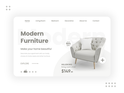 Modern Furniture - Web Design / Landing Page clean web design landing page ui design chair design chair furniture website ikea furniture app furniture store furniture design modern design furniture modern