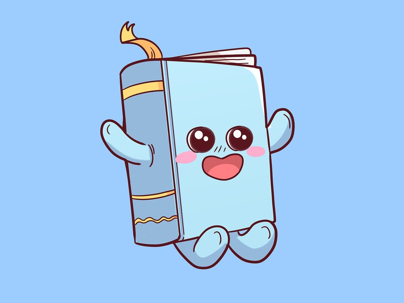 book 1 book mascot cute illustration cuteilustration books book mascot cute illustration