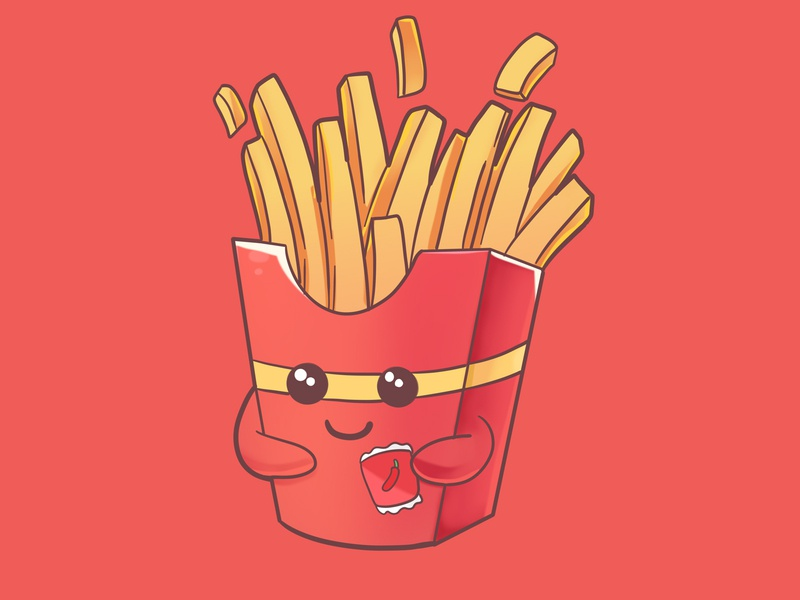 French fries french fries design branding art drawing cute food illustration food cute mascot mascot cuteilustration cute illustration illustration