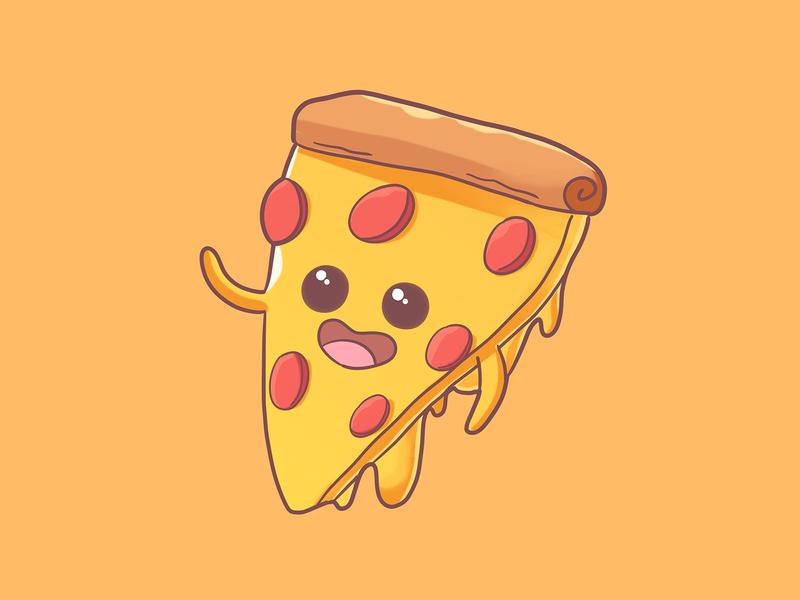 Pizza pizza logo fastfood pizza illustration art food illustration drawing design mascot cute cute illustration illustration