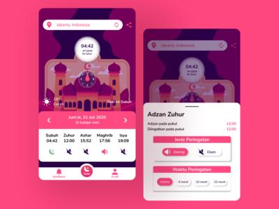 Salah Remider apps ux ui reminders salah uiux uidesign