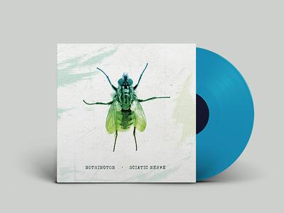 "Nothington / Sciatic Nerve Split 7"" Album Cover 7 inch record album cover fly"