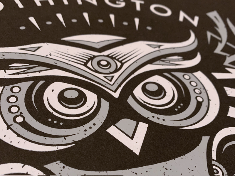 Owl Poster Close Up gig poster owl