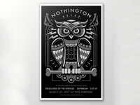 Silk Screened Album Release Concert Poster for Nothington