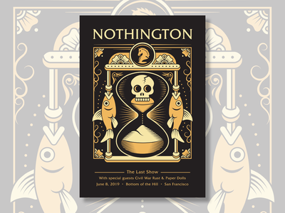 Silk Screened Poster Design for Nothington