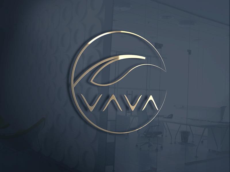 vava logo flat photo editing vector branding photoshop logo design icon illustration logo design