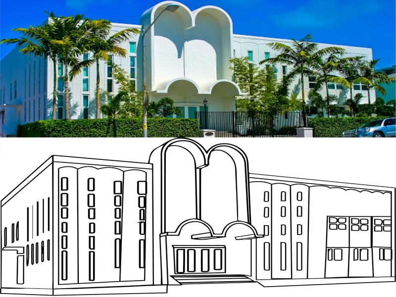 Building vector design photo editing photoshop illustration vector