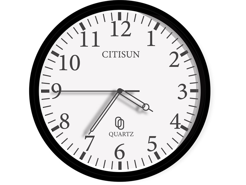 Analog clock photo editing icon illustration logo design clock