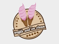 waffle and ice cream logo vector icon branding logo illustration minimalist logo flat design logo design