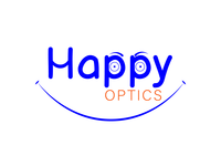 Happy optics logo design photoshop vector minimalist flat icon branding logo design logo illustration design