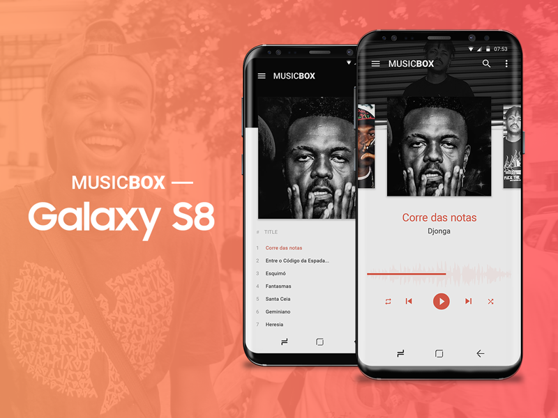 Music Box - Galaxy S8 s8 ui music player daily ui