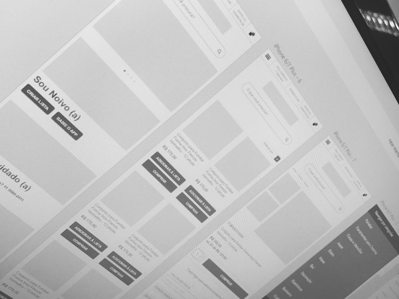 Presentes Mickey adobe xd ui wireframe