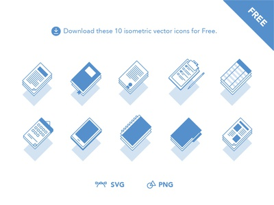 Free Isometric Icons Docs cover book list page text image folder icon calendar newspaper notebook diploma ebook document doctor