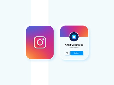 Instagram Smartwatch App influencer branding userinterface uidesign minimalism minimal softui materialdesign neumorphism