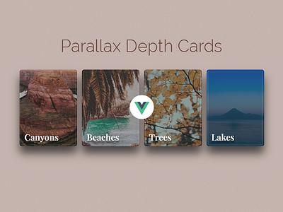 Parallax Depth Cards - CodePen with Vue.js css transforms vue vue.js shadows cards depth parallax