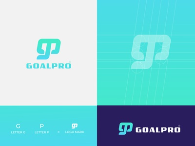 GP Letter Logo Design GoalPro by logoshahin minimalist logo flat logo brand identity brand design minimal branding logo design graphic design logo goalprologo gpletterlogo logoshahin