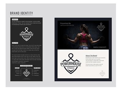 Fitness Brand Identity Design by sahinurrahman24 3d website animation minimal flat web app icon typography ux vector branding ui logo illustration design power gym logo gym fitness logo