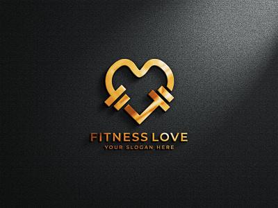 Fitness Love Logo Design logo