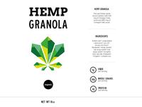 Hemp Granola Label